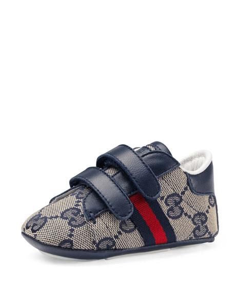 Ace GG Canvas Grip-Strap Sneaker, Infant