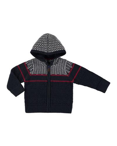 Knit Zip-Up Jacket, Size 3-7