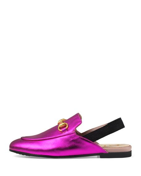 Princetown Junior Leather Horsebit Mule Slide, Kids' Sizes 10T-2Y