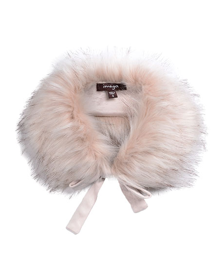 Imoga Hope Girls' Faux-Fur Collar, Pink