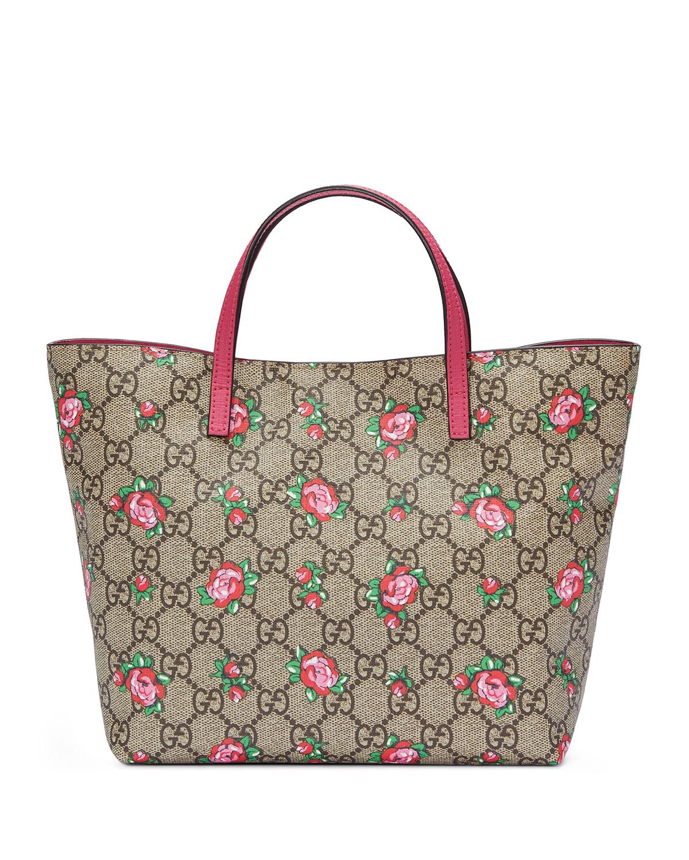 044d7bf1fd Gucci Girls  GG Supreme Rosebud Tote Bag