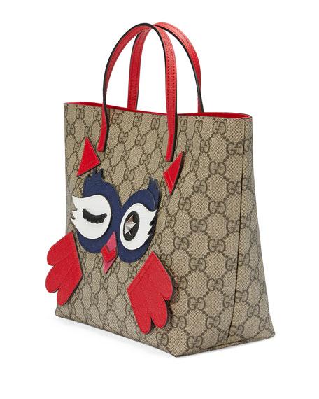Girls' GG Supreme Owl Tote Bag