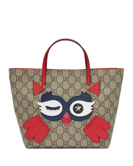 Gucci Girls' GG Supreme Owl Tote Bag