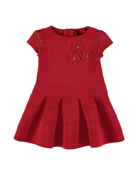 MAYORAL Embellished Flower Dress, Size 3-7