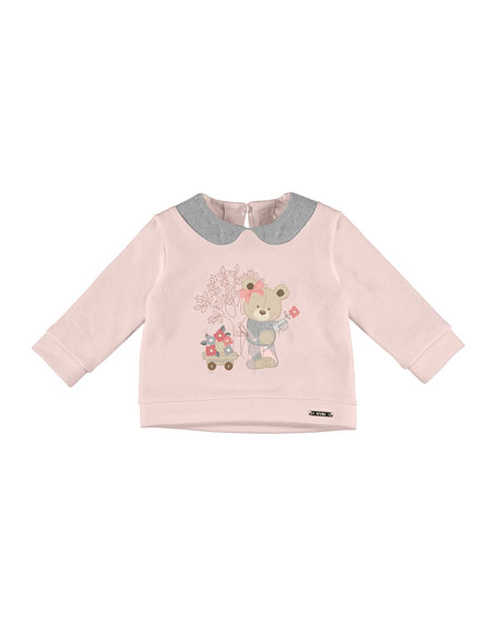 Embroidered Bear Sweater, Size 6-36 Months