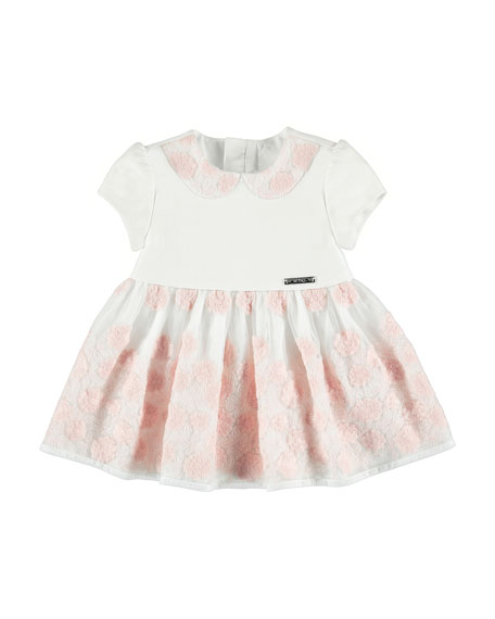 Floral-Embroidery Dress, Rose, Size 6-36 Months