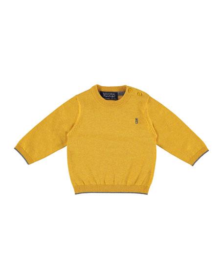 Mayoral Cotton Crewneck Pullover Sweater, Orangey, Size 6-36