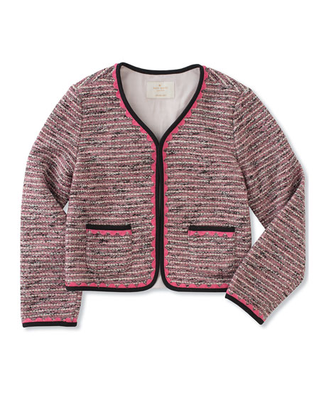 knit tweed jacket, size 2-6