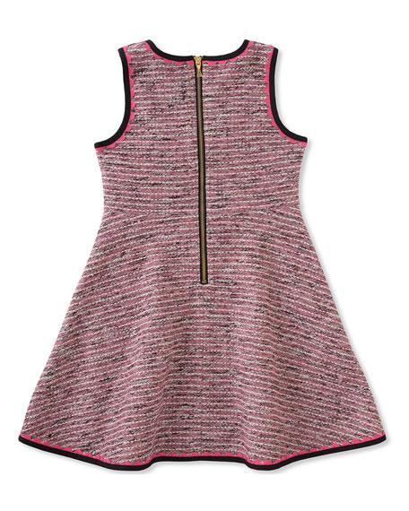 girls' knit tweed dress, size 7-14