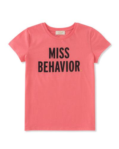 girls' miss behavior tee, size 7-14