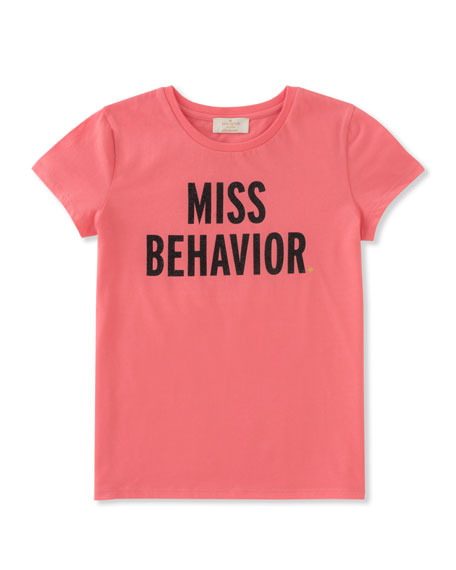 girls' miss behavior tee, size 7-14