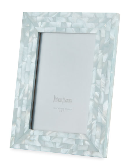 the jws collections mother of pearl frame blue 5 x 7 - Mother Of Pearl Picture Frame