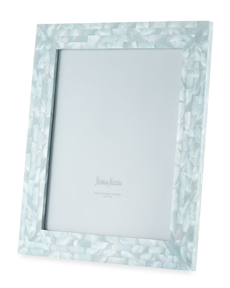 "Mother-of-Pearl Picture Frame, Blue, 8"" x 10"""