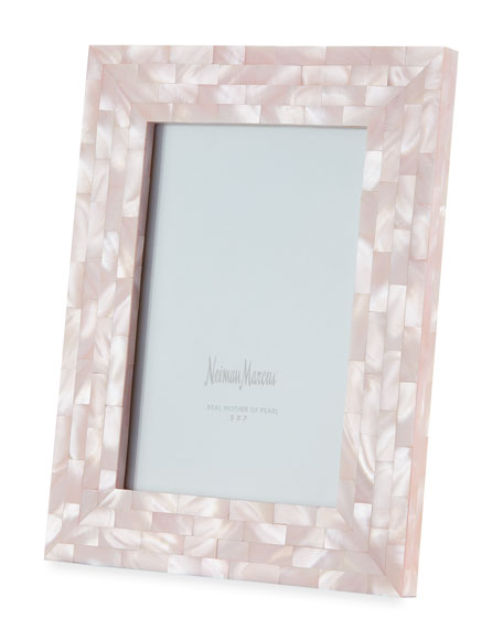 "Mother-of-Pearl Frame, Pink, 5"" x 7"""
