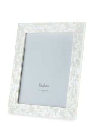 "The Jws Collections Mother-of-Pearl Picture Frame, White, 8"" x 10"""