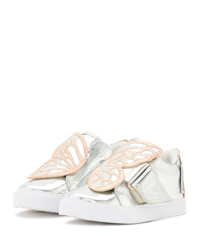 Bibi Butterfly Low-Top Sneakers, Silver/Multi, Toddler/Youth Sizes 5T-2Y
