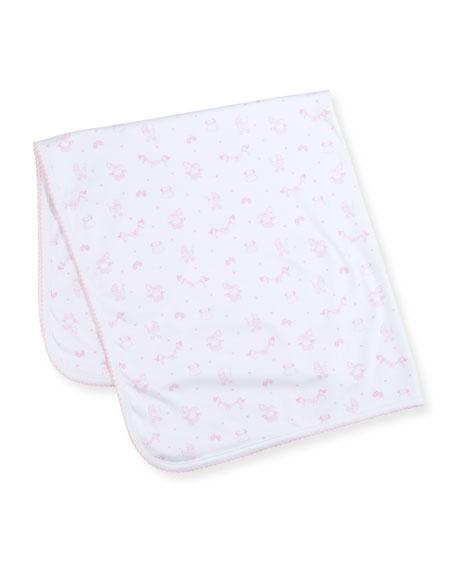 Kissy Kissy Rockabye Buggy Printed Baby Blanket