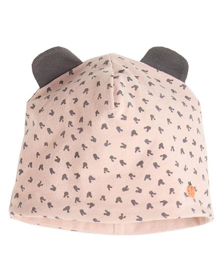 BONNIEMOB REVERSIBLE BABY BEANIE HAT W/ EARS, PINK