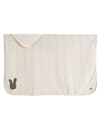 Bunny Silhouette Baby Blanket, Light Gray