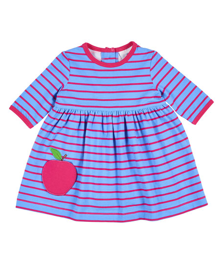 Stripe Dress w/ Apple Pocket, Size 3-24 Months