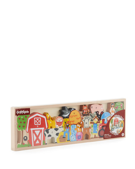 Farm A to Z Puzzle Playset