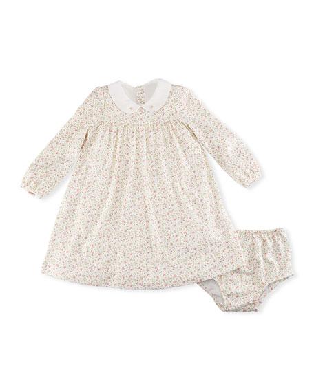 Ralph Lauren Childrenswear Floral-Print Dress w/ Bloomers, Size