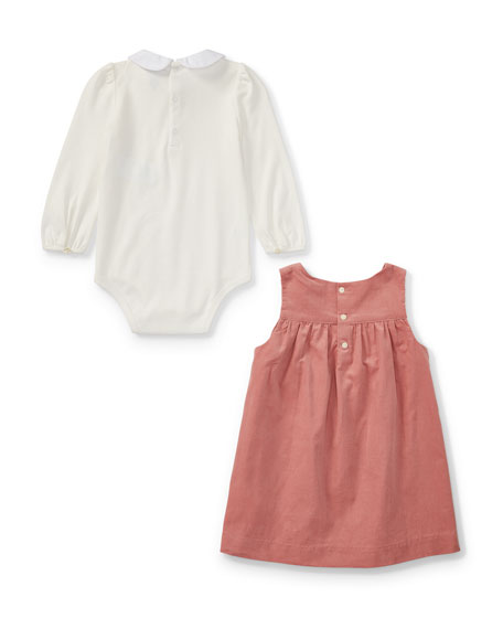 Pinwale Corduroy Jumper w/ Playsuit, Size 9-24 Months