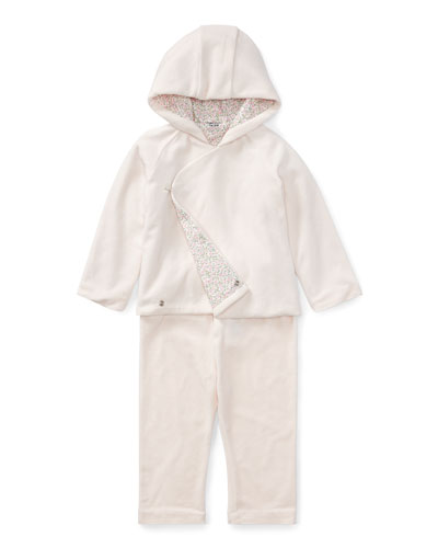 Velour Hooded Jacket & Pants, Size 9-24 Months