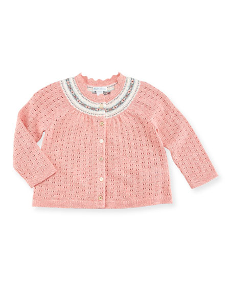 Ralph Lauren Childrenswear Halo Knit Cardigan, Size 9-24