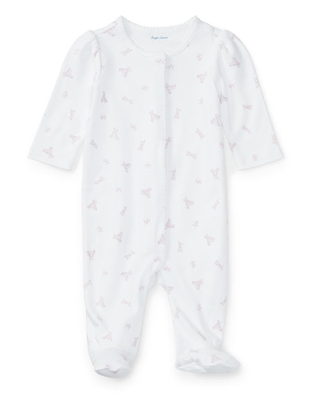 Ralph Lauren Childrenswear Logo-Printed Cotton Coverall, Size
