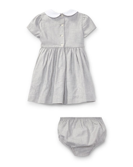 Plaid Dress w/ Bloomers, Size 9-24 Months