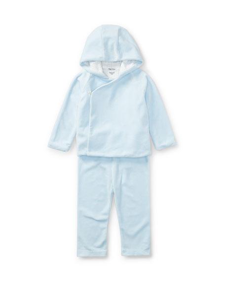 Ralph Lauren Childrenswear Boys' Velour Hooded Jacket w/