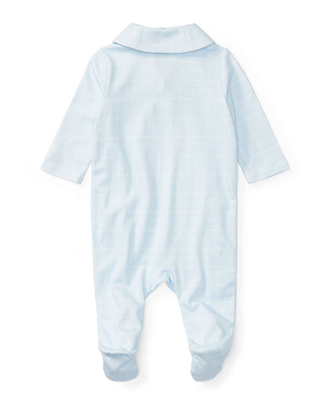 Prince Wales Checkered Footie Pajamas, Size 3-9 Months