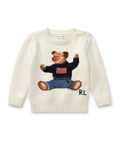 Cotton Bear Sweater, Size 9-24 Months