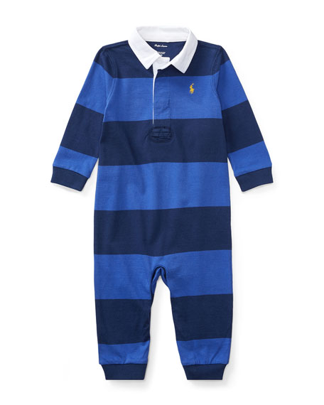 Rugby Jersey Coverall, Size Newborn-9 Months