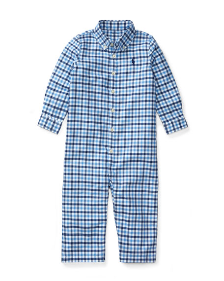 Oxford Kensington Collared Coverall, Size 3-12 Months