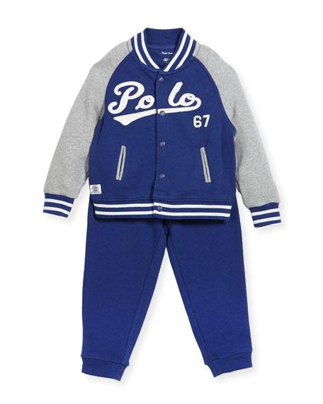 Ralph Lauren Childrenswear Lightweight Terry Baseball Jacket w/