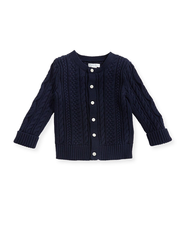e94dd9cdb3 Ralph Lauren ChildrenswearSoft Pearl Cotton Cable-Knit Cardigan