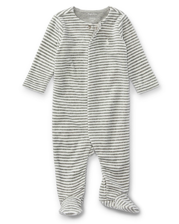 66fcae952 Ralph Lauren Childrenswear Velour Striped Footie Pajamas