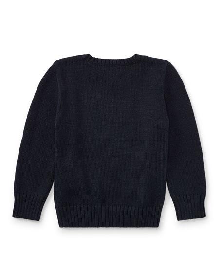 Cotton Bear Sweater, Size 2-4