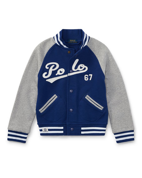 Ralph Lauren Childrenswear Lightweight Terry Baseball Jacket,