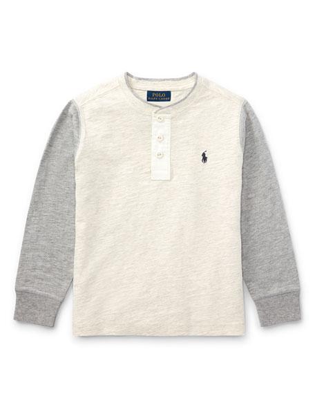 Ralph Lauren Childrenswear Slub Jersey Henley T-Shirt, Size