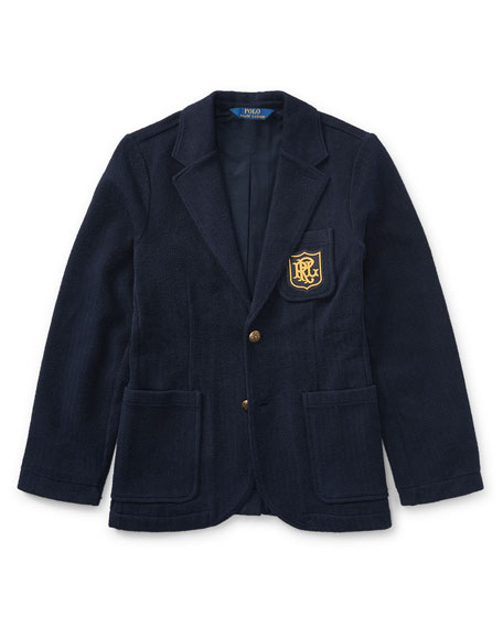 Ralph Lauren Childrenswear Herringbone Knit Blazer, Size 2-4