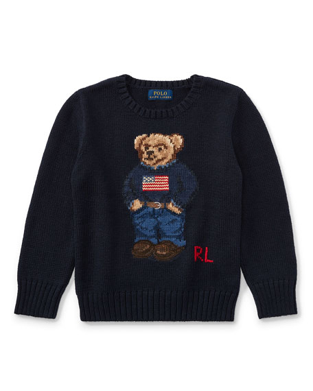 Cotton Bear Sweater, Size 5-7
