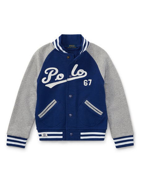 Lightweight Terry Baseball Jacket, Size 5-7