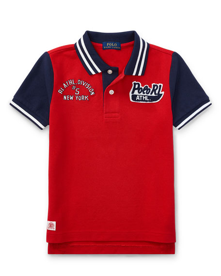 Ralph Lauren Childrenswear Mesh Athletic Patches Polo, Size