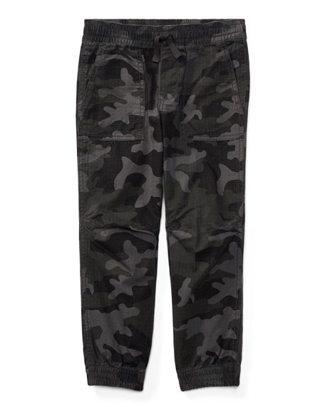 Ripstop Camo Joggers, Size 5-7