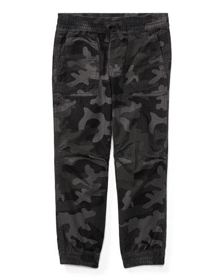 Ralph Lauren Childrenswear Ripstop Camo Joggers, Size 5-7