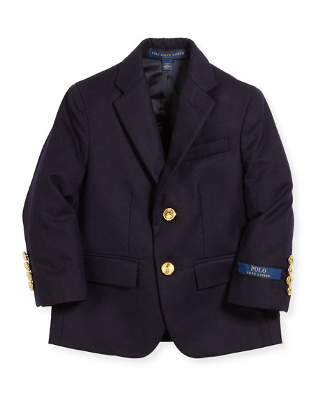Ralph Lauren Childrenswear Lessona Wool Blazer, Size 5-7