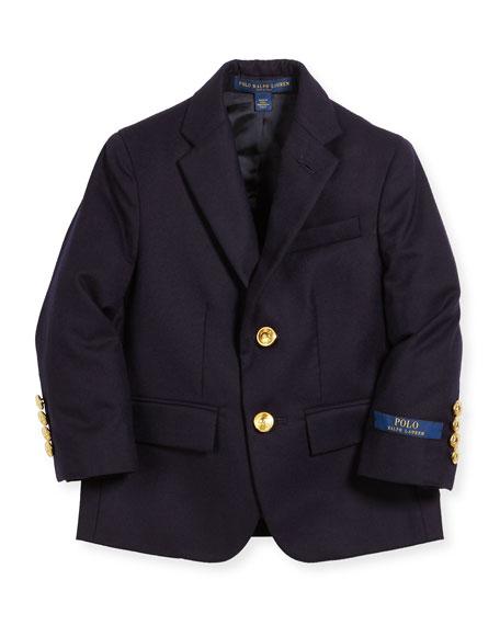 Ralph Lauren Childrenswear Lessona Wool Blazer, Size 5-7